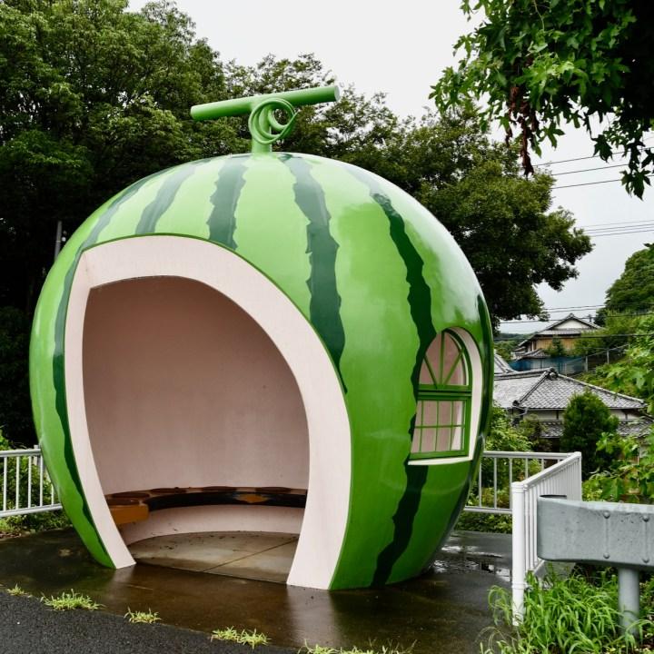 fruit bus stop watermelon