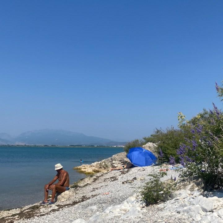 Albania, Shkoder, lake swimming