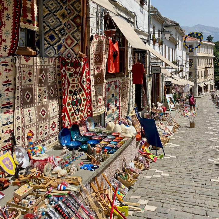 Albania, Gjirokaster, souvenir shopping