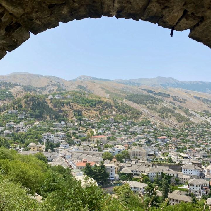Albania, Gjirokaster castle view