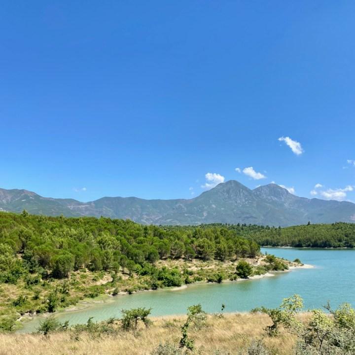 Albania, Fishte, lake