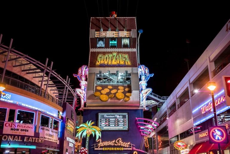 Slotzilla Zipline Las Vegas - Fremont Street Experience, Ziplining in Las Vegas, Zipline Las Vegas, Fremont Zipline, Slotzilla, Kid Friendly Vegas, Kid Friendly Las Vegas, Las Vegas Activities, Things to do Las Vegas, Las Vegas Tips, Las Vegas Things to do, Ziplining in Las Vegas, Las Vegas Travel, Fremont Street Experience | Wanderlustyle.com
