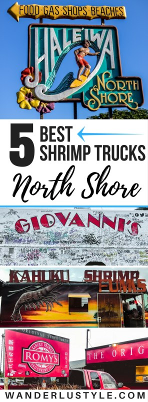 Best Shrimp Trucks on the North Shore - Haleiwa, Hawaii - Hawaii Travel Tips, North Shore Travel Tips, Haleiwa Travel Tips, Hawaii Food, Hawaii Food Places, Hawaii Shrimp Truck | Wanderlustyle.com
