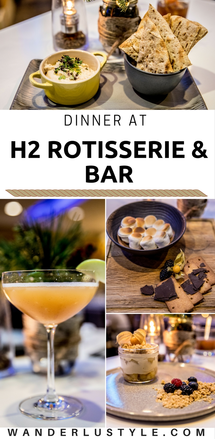 Dinner at H2 Rotisserie & Bar - Westin Bayshore Vancouver | Wanderlustyle.com