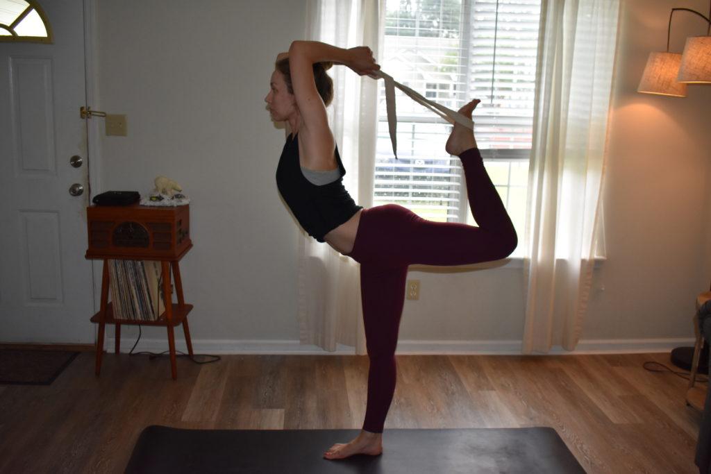 Dancer Pose with Strap yoga