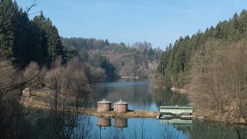 Stauwehr des oberen Sees