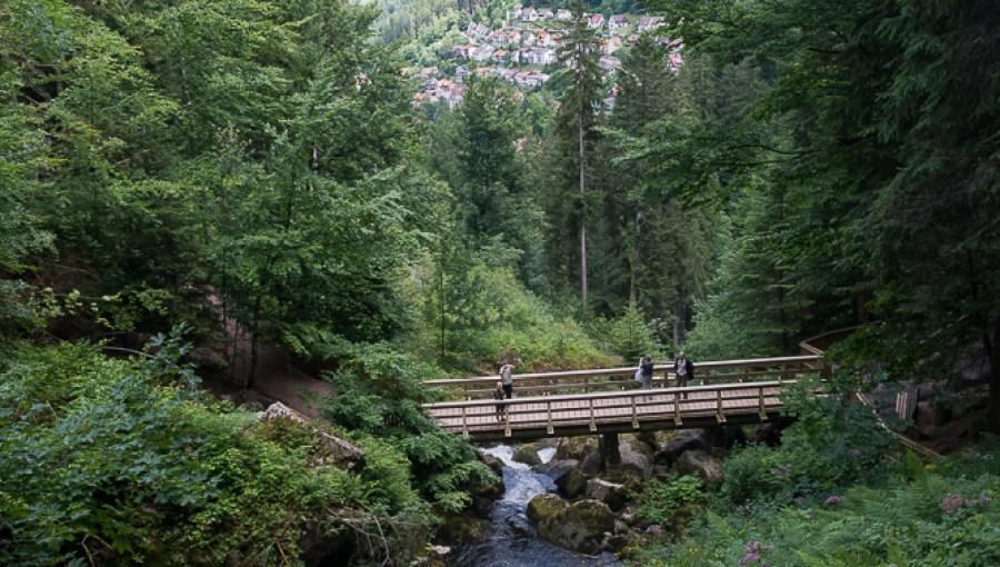 Blick über die Wasserfälle