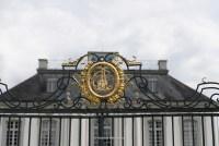 Wappen an Jagdschloss Falkenlust