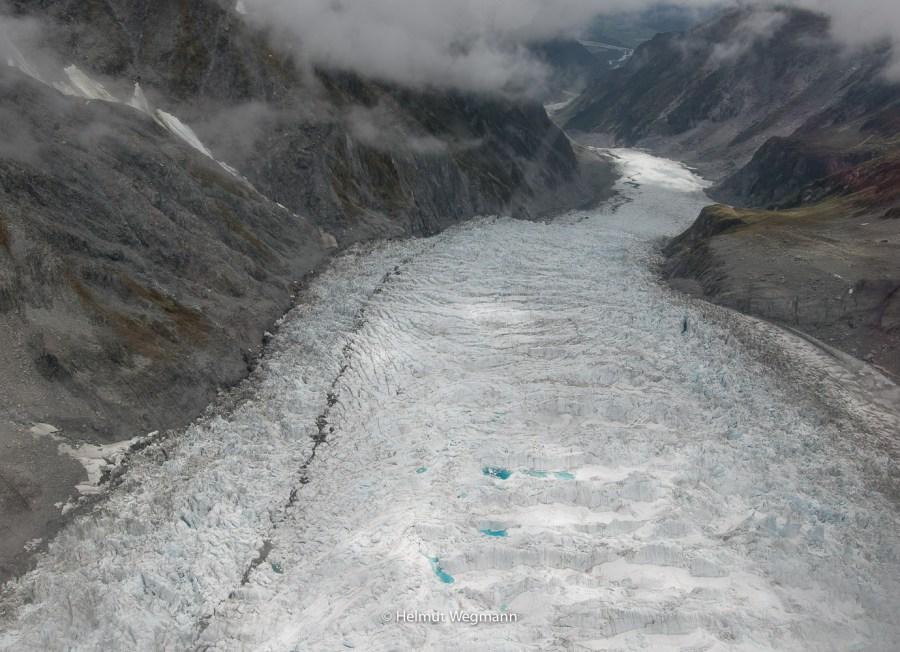 Franz Josef Gletscher vom Heli aus