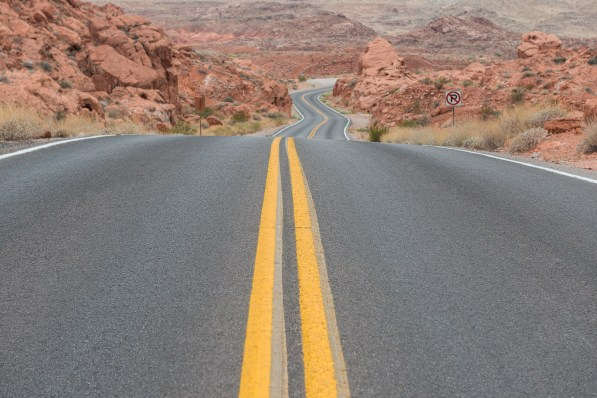 Strasse im Valley of Fire