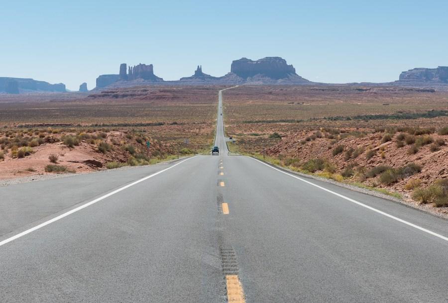 Strasse zum Monument Valley