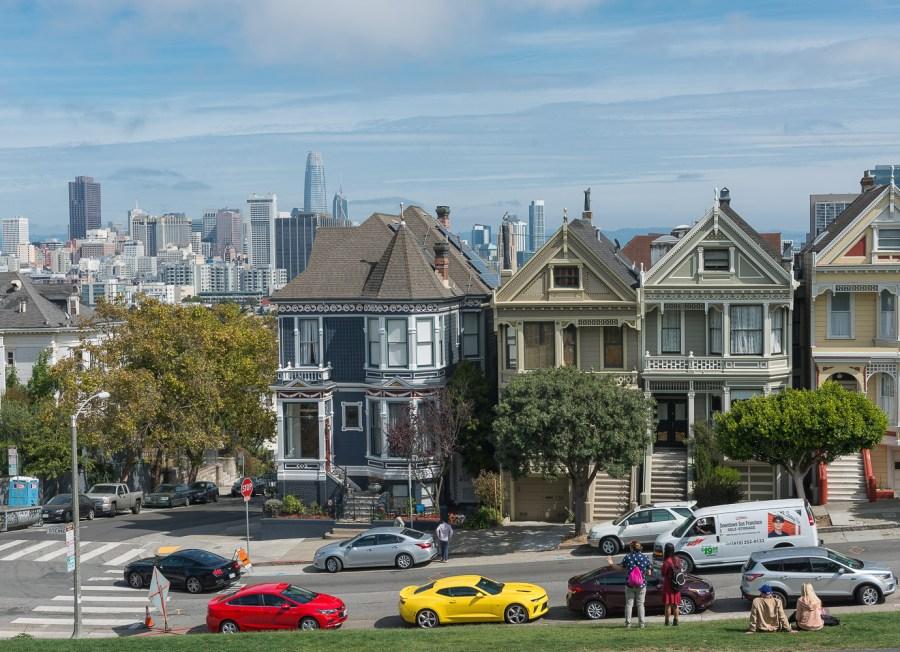 Häuserzeile in San Francisco
