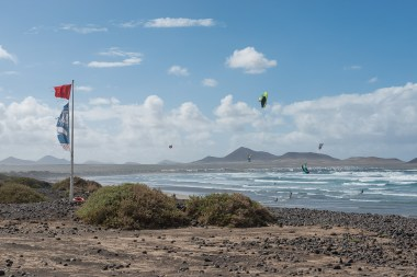 Kitesurfer am Playa Famara