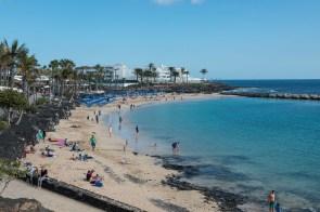 Strand in Playa Blanca