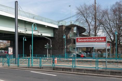 Aufgang zur Severinsbrücke