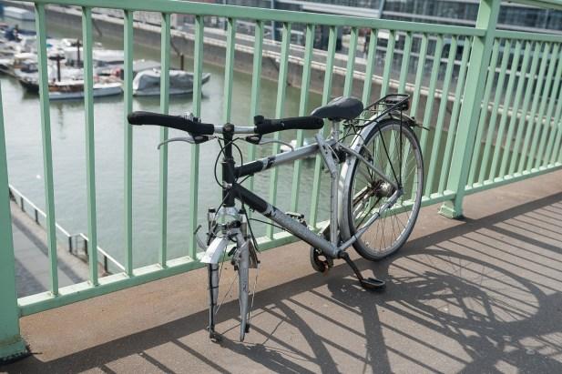 Fahradleiche auf der Severinsbrücke