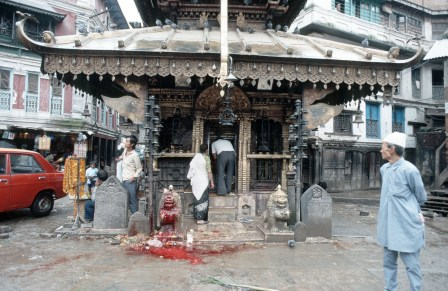Schächtung in Kathmandu