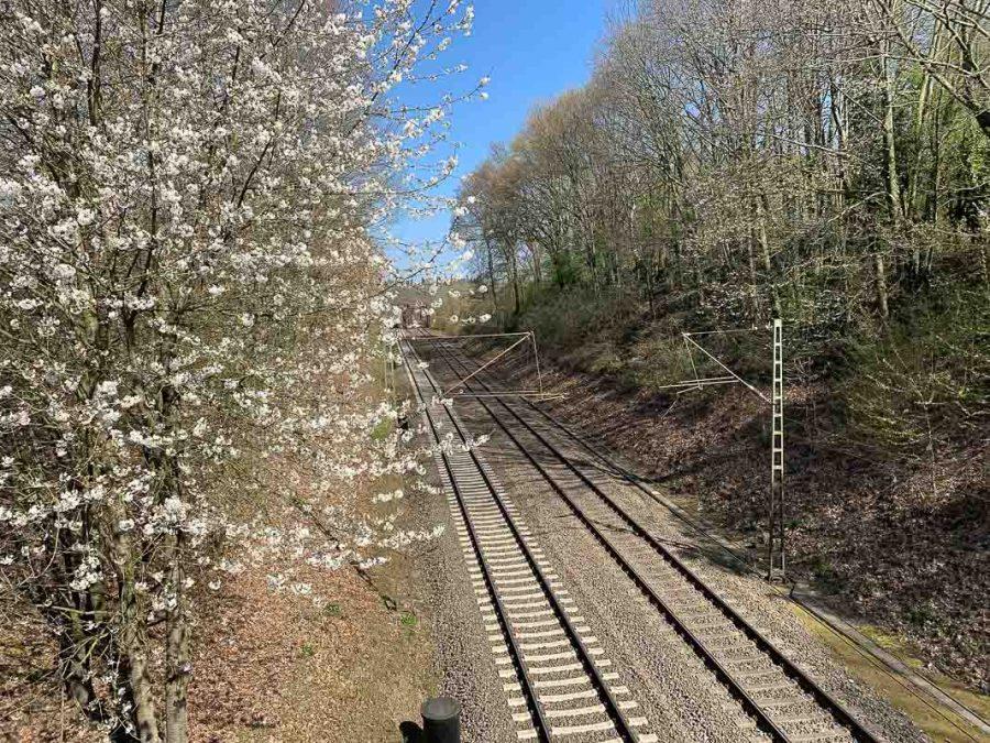 Bahnlinie in Richtung Leichlingen