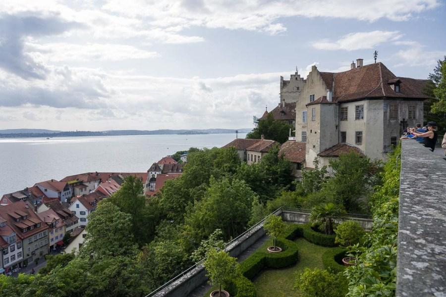 Blick vom Meersburger Schloss nach Nordwesten