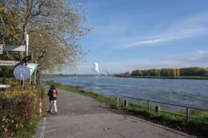Kilometerlang am Rhein entlang