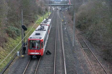 Bahnlinie zwischen Köln und Bonn