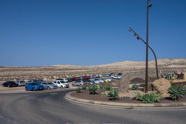 Parkplatz hinter dem Hotel