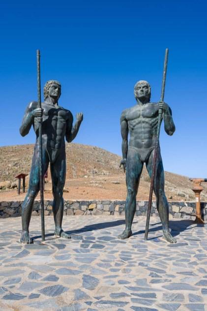 Zwei Guanchen Könige sollen das darstellen
