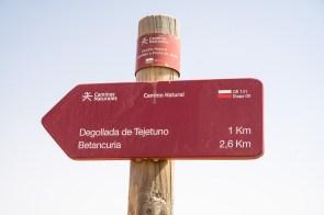 Wegweiser Richtung Betancuria