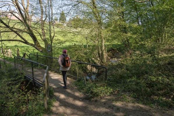 Überquerung des Pilghauser Baches