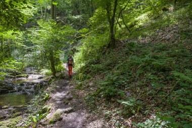 Petra unterwegs im Brodenbachtal