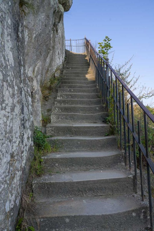 Diese Treppe geht es hinauf