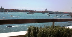 View from rooftop restaurant at Hotel Danieli Venice, Italy