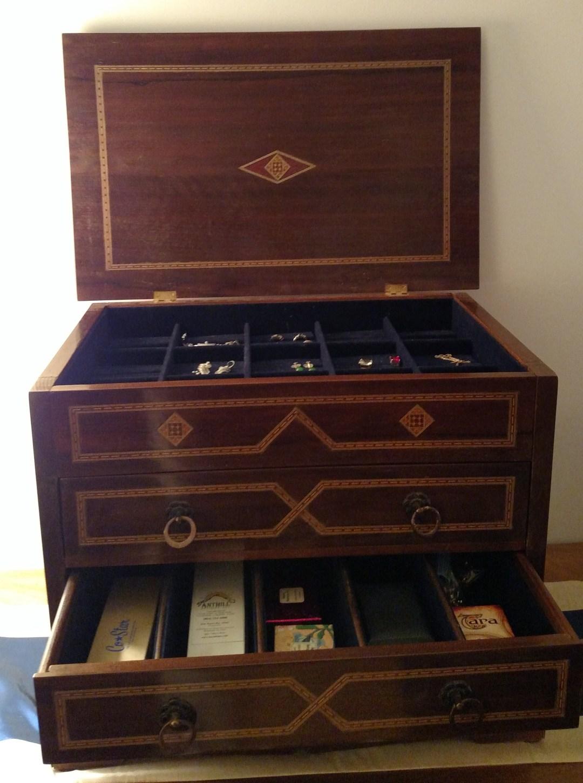 Custom made jewelry box from Damascus, Syria