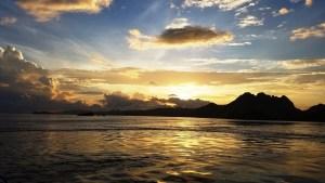Sunrise in Komodo National Park, Indonesia