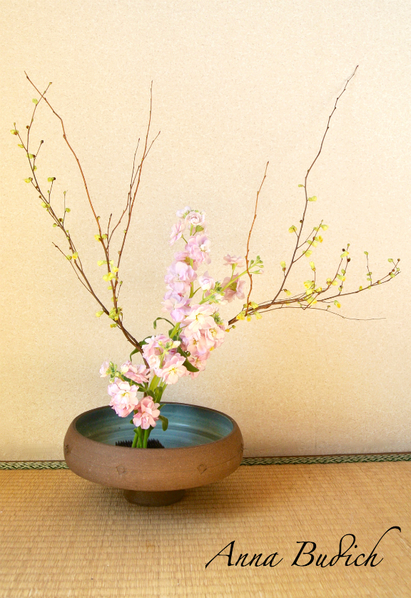 pastel colors ikebana