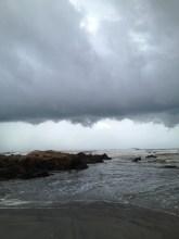 Clouds gathering, Vagator Beach, Goa. Photo taken and owned by Eeva Valiharju/Wanders The World
