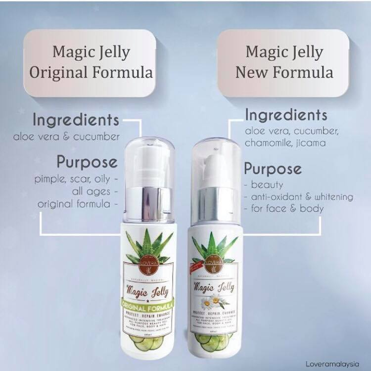 The Magic Jelly comparison between the Original VS New Enhanced formulation.
