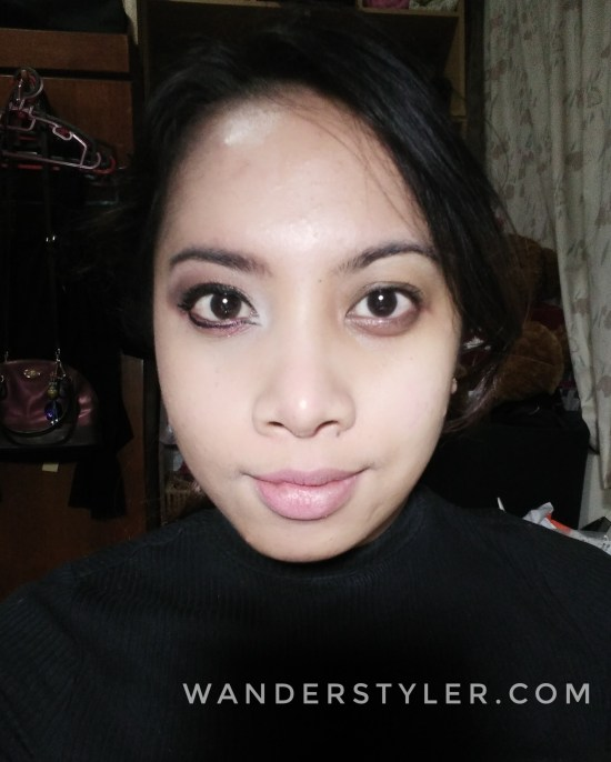 My face before (left) and after (right) cleanse with the Purederm Argan Oil makeup remover