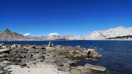 When the wind picks up on High Sierra lakes, large fish will key on to large terrestrials blown into the water close to shore