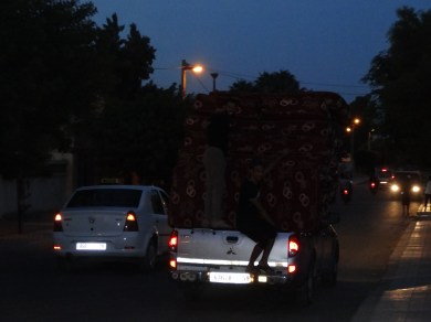 Transporting the mattresses