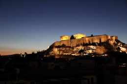 View of Acropolis from back hotel rooms
