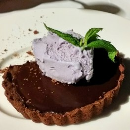 Athens Gate Chocolate Tart Lavendar Ice Cream