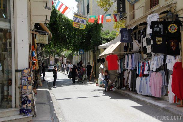 Athens Plaka Shopping Street Wandertoes
