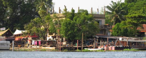 View of Bangkok from the Chao Phraya water taxi