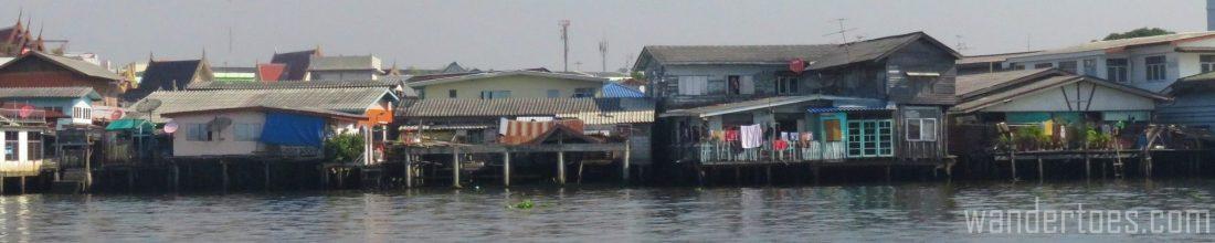 Views along Bangkok's Chao Phraya from the Water Taxi.