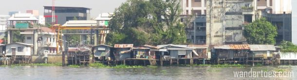 Views along Bangkok's Chao Phraya from the Water Taxi.