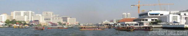 Traffic Jam on Bangkok's Chao Phraya. Water Taxi