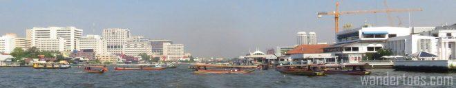 Traffic Jam on Bangkok's Chao Phraya. Water Taxi