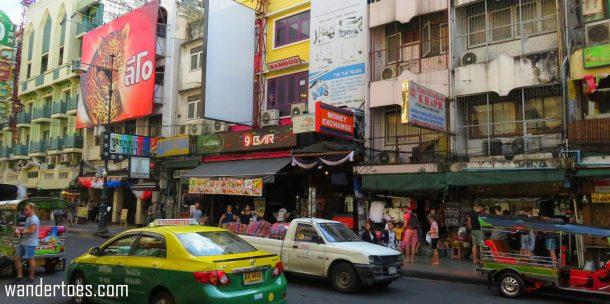 Khaosan Road bangkok thailand travel with kids