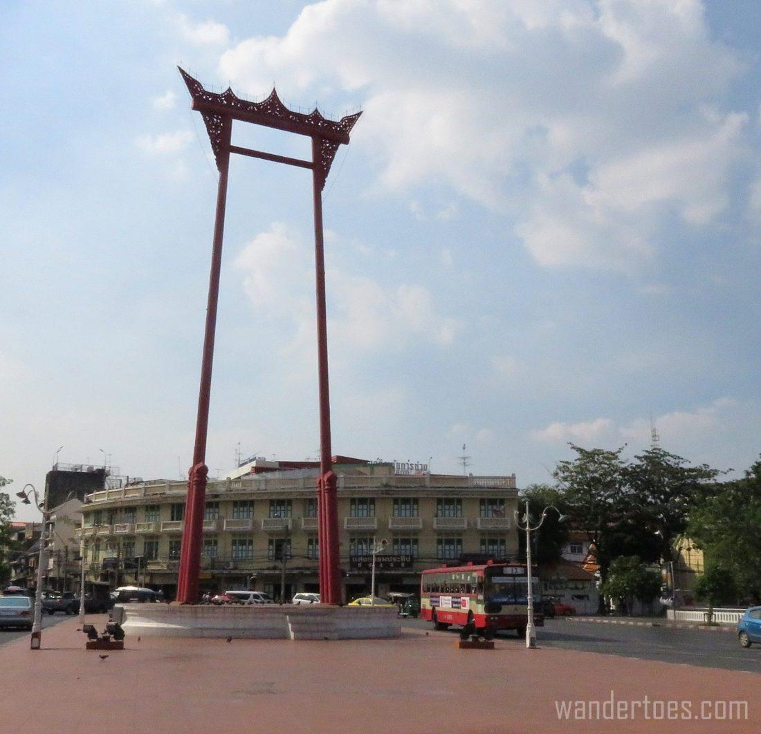Tuk Tuk ride Khaosan road bangkok thailand travel giant swing
